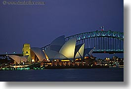 australia, bridge, buildings, harbor, horizontal, nature, nite, opera house, structures, sydney, water, photograph