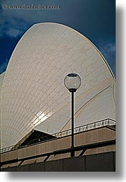 australia, buildings, lamp posts, opera house, structures, sydney, vertical, photograph