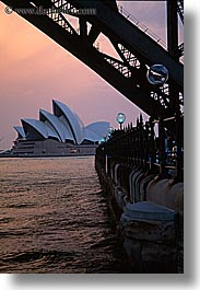 australia, buildings, dusk, harbor, nature, opera house, structures, sydney, vertical, water, photograph