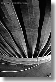 abstracts, australia, black and white, lines, opera house, parking, sydney, vertical, walls, photograph