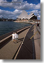 australia, buildings, clouds, nature, opera house, pedestrians, people, sky, structures, sydney, vertical, photograph