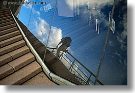 abstracts, australia, horizontal, opera house, pedestrians, people, reflections, sky, stairs, structures, sydney, photograph