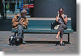 australia, cellphone, homeless, horizontal, men, people, sydney, womens, photograph