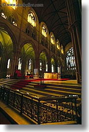australia, buildings, churches, pews, religious, st marys cathedral, structures, sydney, vertical, photograph