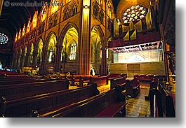 australia, buildings, churches, horizontal, pews, religious, st marys cathedral, structures, sydney, photograph