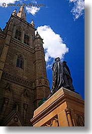 australia, buildings, churches, religious, st marys cathedral, statues, steeples, structures, sydney, vertical, photograph