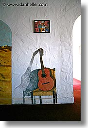 amargosa, california, frescoes, guitars, vertical, west coast, western usa, photograph