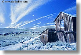 blues, bodie, california, exteriors, ghost town, horizontal, state park, west coast, western usa, photograph