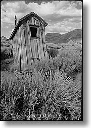 black and white, bodie, california, exteriors, ghost town, state park, vertical, west coast, western usa, photograph