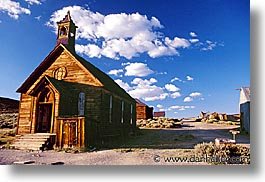 bodie, california, churches, exteriors, ghost town, horizontal, state park, west coast, western usa, photograph