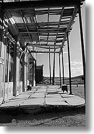 black and white, bodie, california, exteriors, ghost town, hotels, state park, vertical, west coast, western usa, photograph