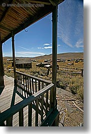 bodie, california, exteriors, ghost town, managers, porch, state park, vertical, west coast, western usa, photograph