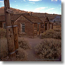 bodie, california, exteriors, ghost town, square format, state park, union, west coast, western usa, photograph