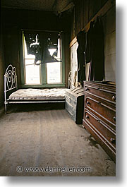 antiques, bedrooms, bodie, california, ghost town, homes, vertical, west coast, western usa, photograph