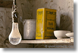 antiques, bodie, california, ghost town, horizontal, kitchen, lights, west coast, western usa, photograph