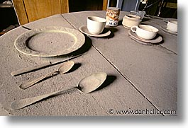 antiques, bodie, california, ghost town, horizontal, kitchen, plates, west coast, western usa, photograph