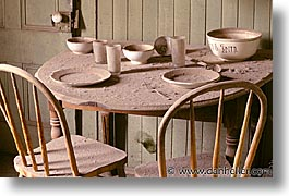 antiques, bodie, california, ghost town, horizontal, kitchen, tables, west coast, western usa, photograph