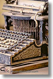 antiques, bodie, california, ghost town, typewriter, vertical, west coast, western usa, photograph