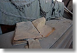 antiques, bodie, books, california, coffin, ghost town, horizontal, morgue, west coast, western usa, photograph