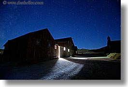 ajar, antiques, barn, bodie, california, doors, ghost town, horizontal, long exposure, nite, stars, state park, west coast, western usa, photograph