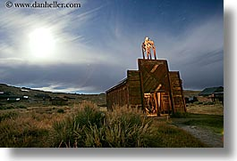 antiques, bodie, california, fire station, firehouse, ghost town, horizontal, long exposure, nite, state park, west coast, western usa, photograph