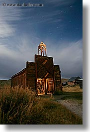 antiques, bodie, california, fire station, firehouse, ghost town, long exposure, nite, state park, vertical, west coast, western usa, photograph