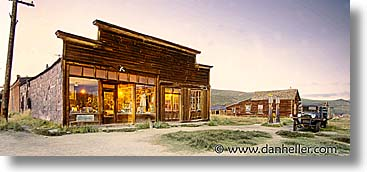 antiques, artifacts, bodie, california, exteriors, gen, ghost town, horizontal, landmarks, nite, north america, old west, panoramic, state park, stores, united states, west coast, western usa, photograph