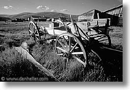 antiques, black and white, bodie, california, ghost town, horizontal, west coast, western usa, wheels, photograph