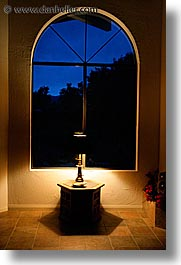 borrego springs, california, lamps, nite, vertical, west coast, western usa, windows, photograph