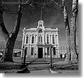 black and white, bridgeport, california, courthouse, square format, west coast, western usa, photograph