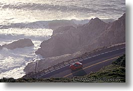 cal coast, california, california coast, cars, fast, half moon bay, horizontal, shores, west coast, western usa, photograph