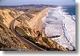cal coast, california, california coast, half moon bay, horizontal, roads, shores, west coast, western usa, photograph
