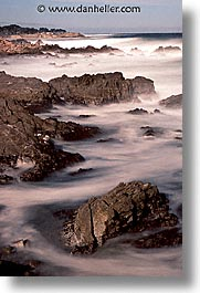 cal coast, california, california coast, monterey, rocks, vertical, waves, west coast, western usa, photograph