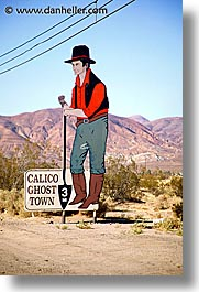 calico, california, signs, vertical, west coast, western usa, photograph