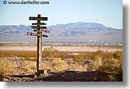 calico, california, directional, horizontal, signs, west coast, western usa, photograph
