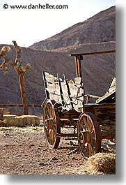 calico, california, old, vertical, wagons, west coast, western usa, photograph