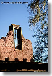 calico, california, old, vertical, west coast, western usa, windows, photograph