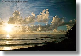 beaches, california, cambria, clouds, horizontal, ocean, sunsets, west coast, western usa, photograph
