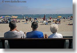 beaches, california, capitola, crowded, horizontal, looking, people, west coast, western usa, photograph
