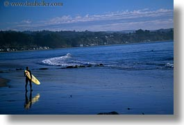 beaches, california, capitola, horizontal, surfers, west coast, western usa, photograph