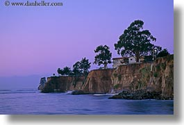 california, capitola, cliffs, coastline, dawn, horizontal, ocean, west coast, western usa, photograph