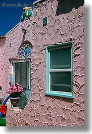 adobe, buildings, california, capitola, colorful, vertical, victorian hotel, west coast, western usa, photograph