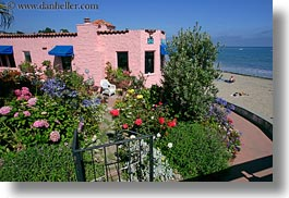 california, capitola, flowers, horizontal, hotels, victorian hotel, victorians, west coast, western usa, photograph