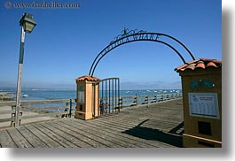 arches, california, capitola, entry, horizontal, west coast, western usa, wharf, photograph
