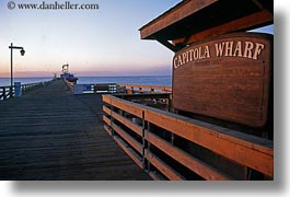 california, capitola, horizontal, piers, signs, west coast, western usa, wharf, photograph