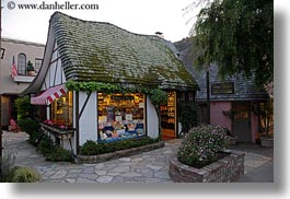 california, carmel, cottage, horizontal, houses, sweets, west coast, western usa, photograph