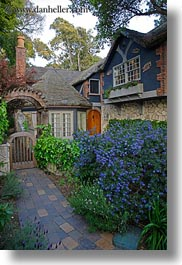 california, carmel, cute, houses, little, vertical, west coast, western usa, photograph