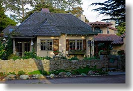 california, carmel, cute, horizontal, houses, little, west coast, western usa, photograph