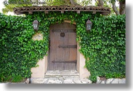 california, carmel, doors, horizontal, houses, ivy, west coast, western usa, photograph