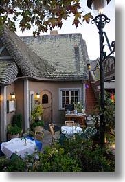 california, carmel, exteriors, houses, restaurants, vertical, west coast, western usa, photograph